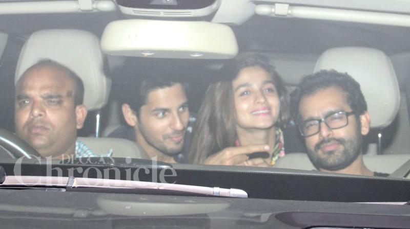 Bollywood stars came down to attend Shweta Nanda Bachchan's birthday bash. The star studded party was attended by Alia, Sidharth, Farhan, Abhishek and others. (Photo: Viral Bhayani)