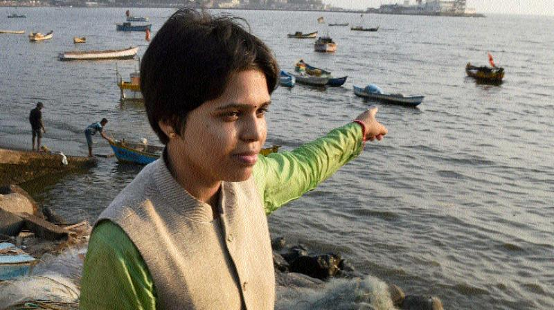 Trupti Desai during a protest to oppose the ban on women's entry to the Haji Ali dargah  (Photo: PTI)