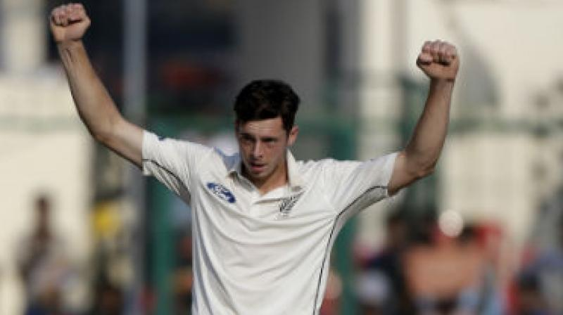 Santner claimed three key Indian wickets on the first day of the Test. (Photo: AP)