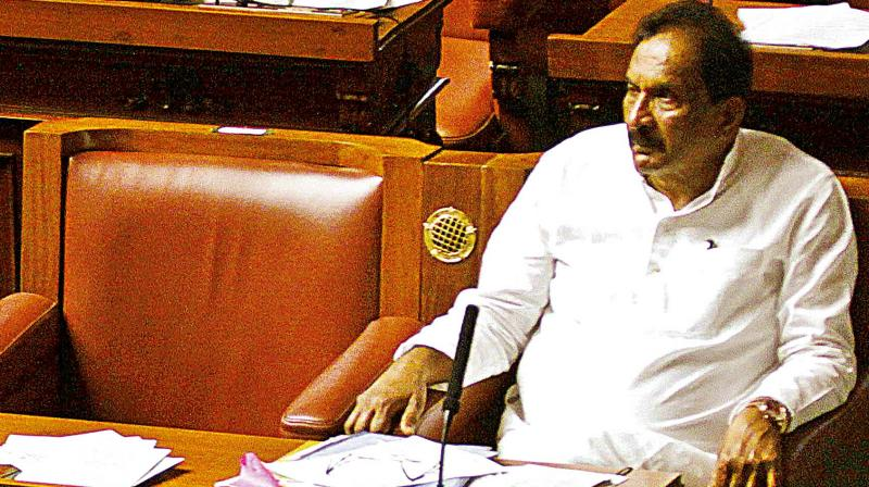 Bengaluru Development Minister K.J. George at the Assembly session (Photo: DC)