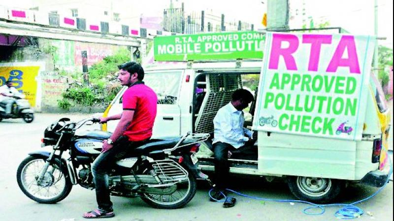 The mobile pollution check system in Hyderabad seems to have serious flaws. (Representational image)