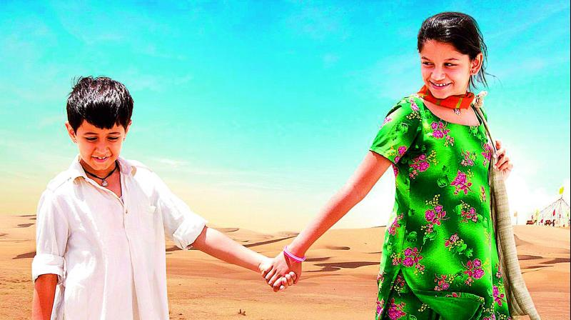 A still from the film Dhanak