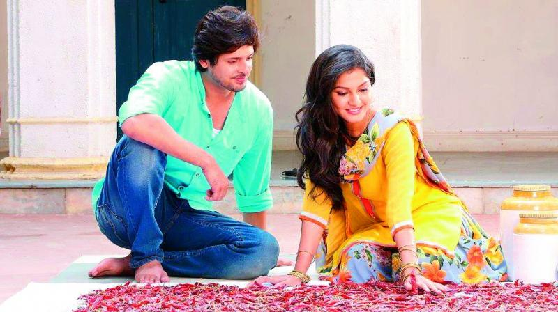 The actors in still from Aadhe Adhoore