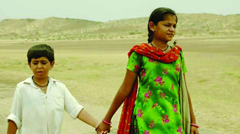 A still from the movie Dhanak