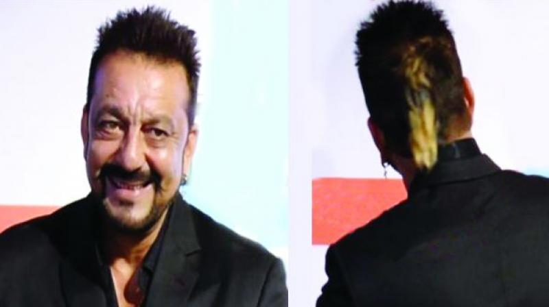 Quite a trend setter: Sanjay Dutt sporting his white coloured ponytail