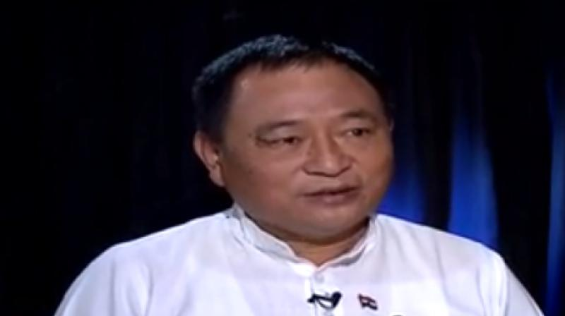 Arunachal Pradesh MP Ninong Ering (Video grab)