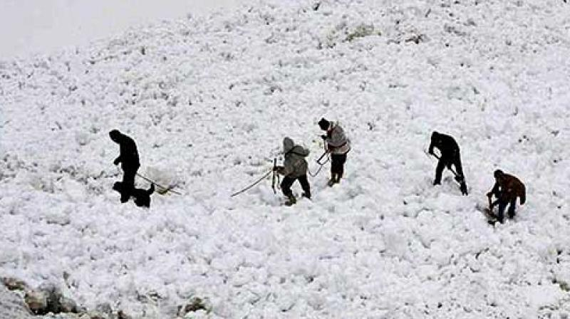 The avalanche had hit the Army positions in the northern glacier at around 3:30 pm today.  (Photol: PTI)