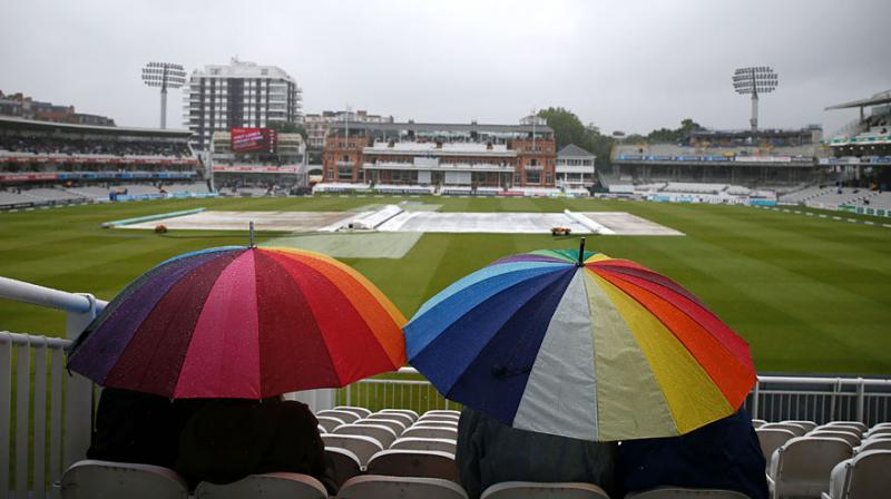 Rain prevented any play after lunch on day five of the third and final England-Sri Lanka Test at Lord's. (Photo: AFP)