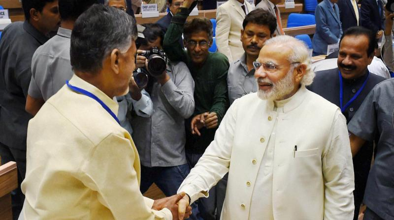 Image result for Chandrababu Naidu's  PM at Niti Ayog