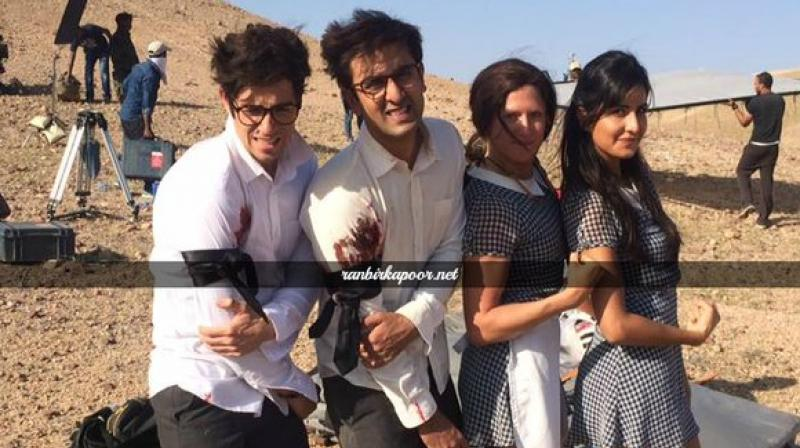 Peachy Ranbir Kapoor And Katrina Kaif Shoot For Fight Sequence With Body Hairstyles For Women Draintrainus