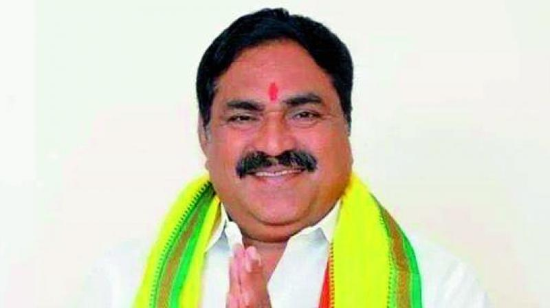 Telangana TD MLA Errabelli Dayakar Rao who defected to TRS.