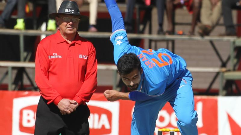 India rode on young seamer Barinder Sran's memorable performance to notch up a crushing 10-wicket victory over Zimbabwe in the second Twenty20 International in Harare on Monday. (Photo: AP)