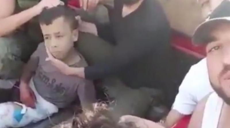 The Britain-based Syrian Observatory for Human Rights confirmed that the video depicts rebel fighters. (Photo: Videograb)