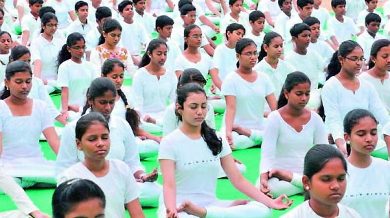 most schools have made Yoga a regular activity in their academic schedule and students and parents are voluntarily taking up the training classes (two per week) given benefits like improved focus and concentration in studies.