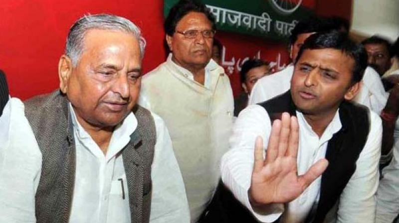Mulayam Singh Yadav and Akhilesh Yadav (Photo: PTI)