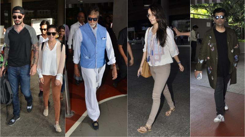Mumbai airport saw a lot of action go down on Sunday (May 29) as Bollywood celebrities like Karan Johar, Shraddha Kapoor, Amitabh Bachchan and others returned back to bay. (Photo: Viral Bhayani)