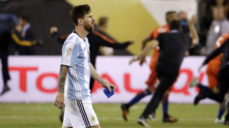 Messi, five-time FIFA Player of the Year, winner of four Champions League titles and eight Spanish La Liga crowns with Barcelona, was crushed after Chile beat Argentina in Copa America final for the second year in a row. (Photo: AP)