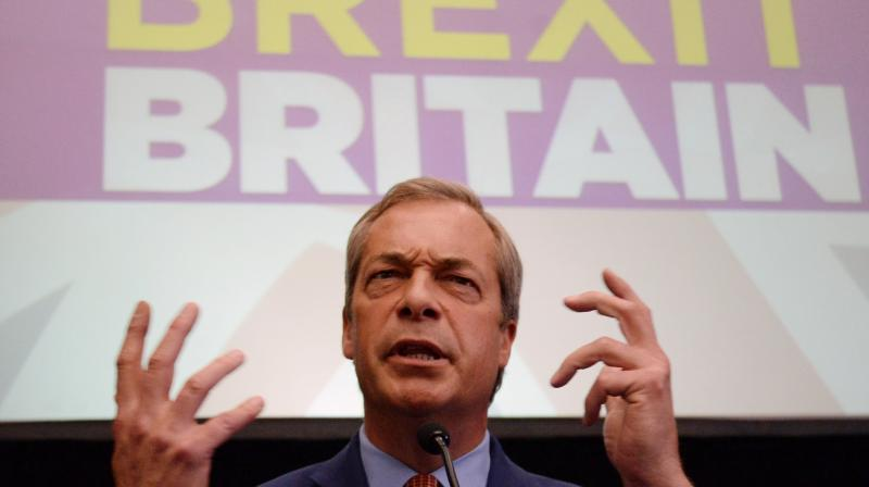 Farage, who has called for Britain to leave the bloc without a deal, said last weekend while campaigning he saw the by-election as 'the opportunity for the next chapter in this great story'. (Photo: File)