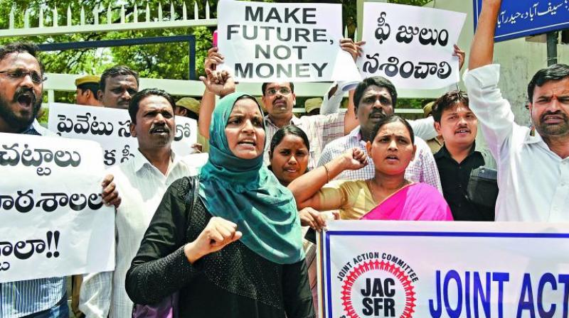 The Hyderabad School Parents Association started the fight here in Hyderabad during the 2015 academic year and since then, the movement to regulate fees gained momentum in January this year. (Representational image)