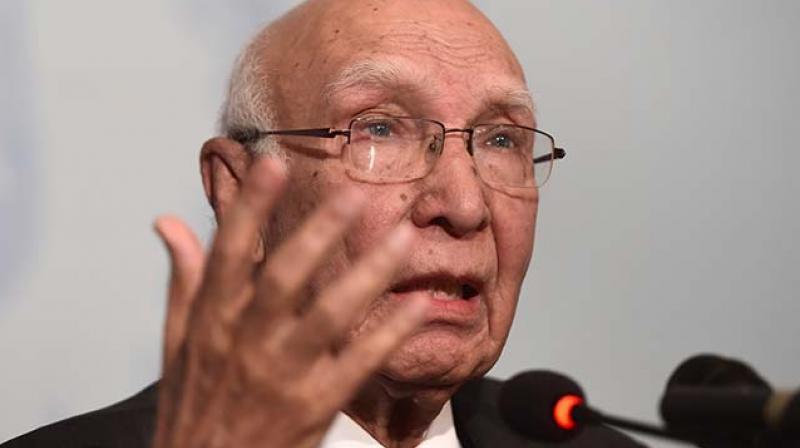 Pakistan Prime Minister's Advisor on Foreign Affairs Sartaj Aziz (Photo: PTI)