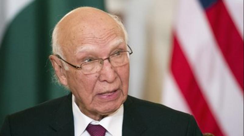Sartaj Aziz, Foreign Affairs Advisor to Pakistani Prime Minister Nawaz Sharif (Photo: PTI)