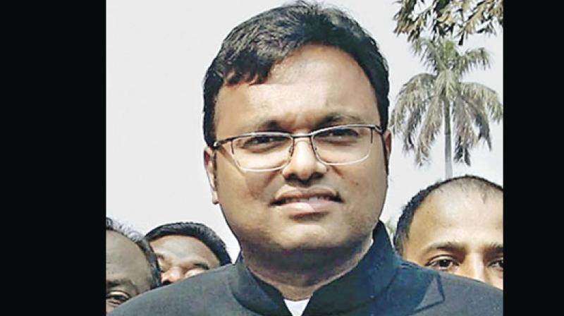 Karti Chidambaram is son of P Chidambaram, former finance minister of India.