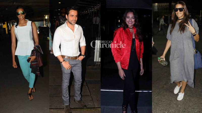 Emraan Hashmi, Sonakshi Sinha were snapped as they stepped out for dinner, while other celebrities were spotted at various places in Mumbai on Friday. (Photo: Viral Bhayani)
