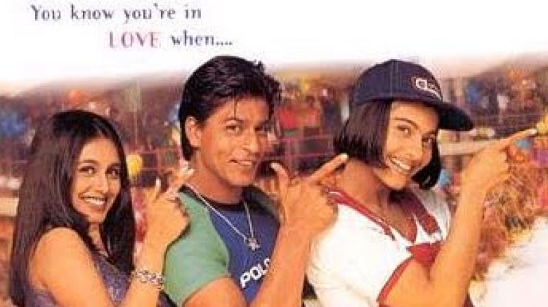 One of the popular posters from 'Kuch Kuch Hota Hai'.