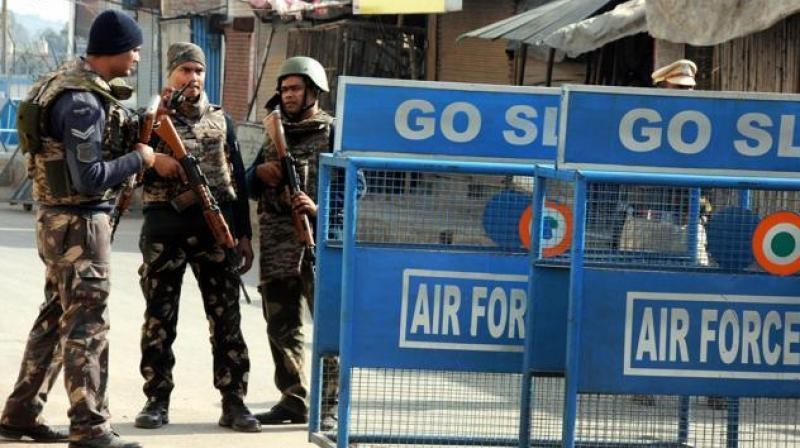 Security personnel on guard at Pathankot Airbase (Photo: PTI/File)