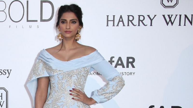 Bollywood diva Sonam Kapoor channelled her inner Jasmine at the amfAR Cinema Against AIDS benefit gala. Photo: AP