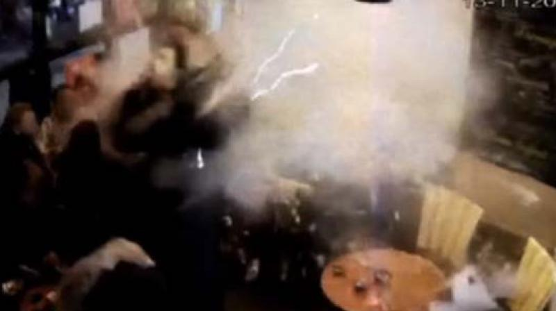 Blowing Himself Up In A Paris Cafe