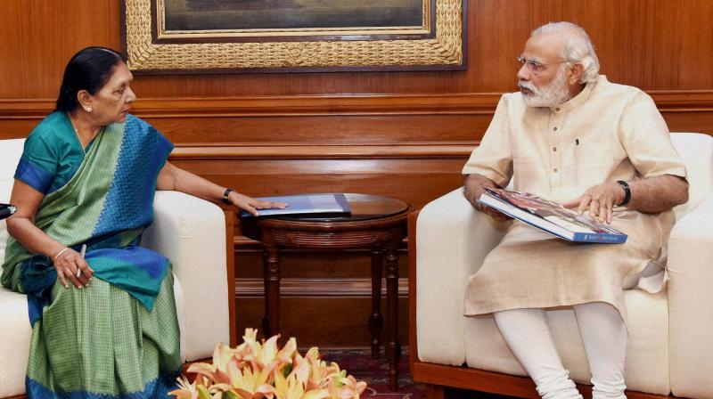 Anandiben says Modi is a bachelor!