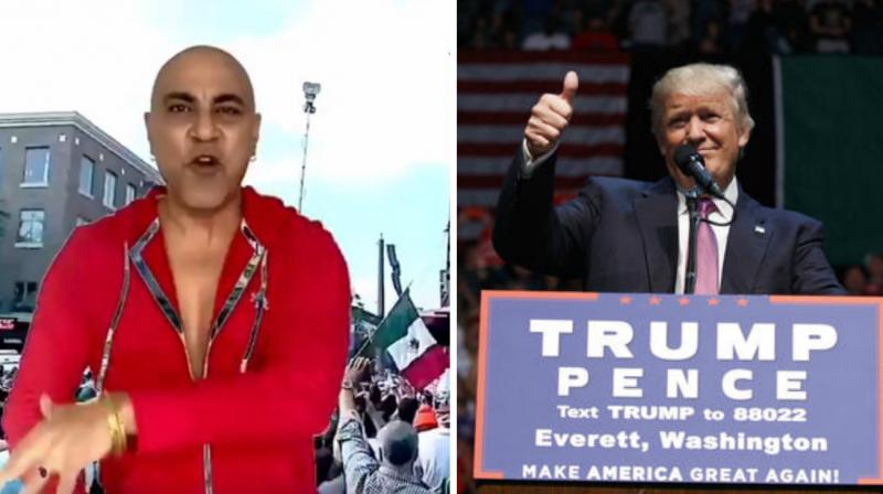 The 1990s pop star, Baba Sehgal, sang praises for Donald Trump in rap song 'Trump Ka Mania.'