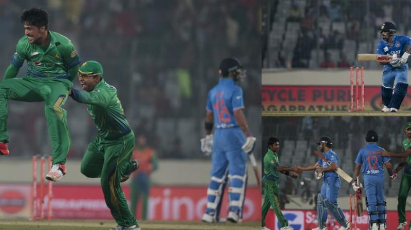 India beat Pakistan by 5 wickets in their Asia Cup T20 encounter in Mirpur on Saturday. (Photos: AP)