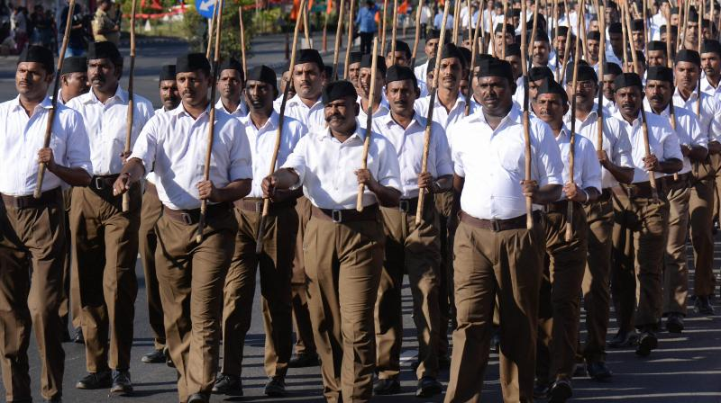 Congress on Wednesday said RSS workers should face enemies on the border if its teachings were behind Army's surgical strikes. (Photo: PTI/Representational)