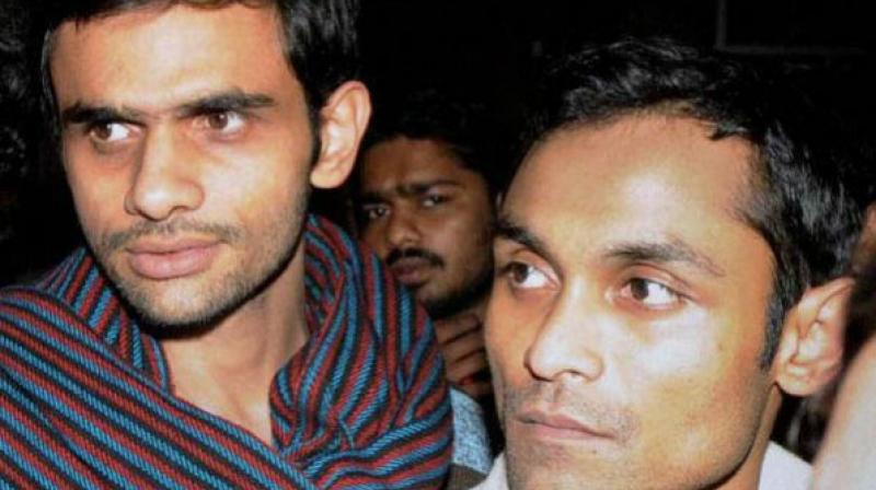Umar Khalid and Anirban Bhattacharya guilty of indiscipline in connection with the controversial February 9 event (Photo: PTI/file)