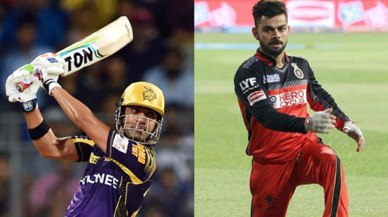Gautam Gambhir and Virat Kohli were fined following Kolkata Knight Riders'win over Royal Challengers Bangalore. (Photo: PTI / BCCI)