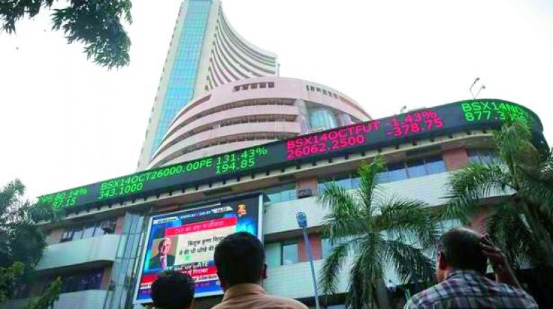 BSE Sensex surged 330.45 points to close at 34,413.16 while Nifty jumped 100.15 points to 10,576.85 on Thursday. (Photo: File)
