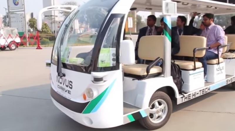 The indigenous automated guided vehicle, Novus-Drive.