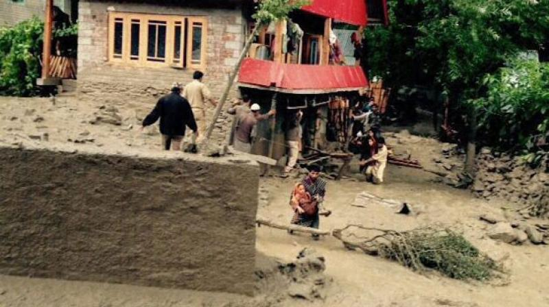 At least five members of a family in Himachal Pradesh died on Friday when their house was washed away in a cloudburst. (Photo: PTI/Representational)