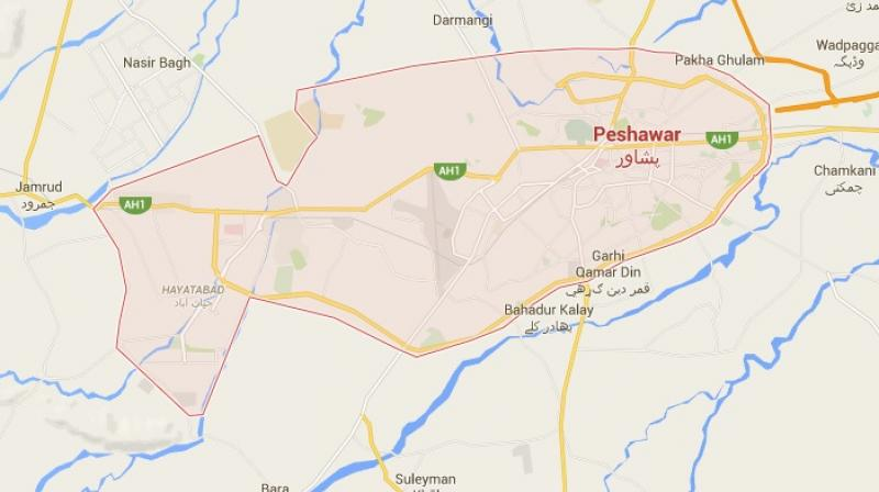 The assailants opened fire and lobbed grenades at the Baitul Mukarrama Alhadees seminary in Peshawar.