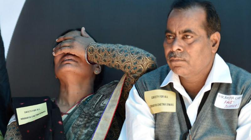 Nirbhaya's parents Badrinath Singh and Asha Devi. (Photo: PTI/File)