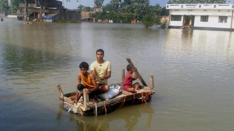 The Ganga is flowing above danger mark at seven places in four districts including Patna, Bhagalpur, Munger, and Buxar.