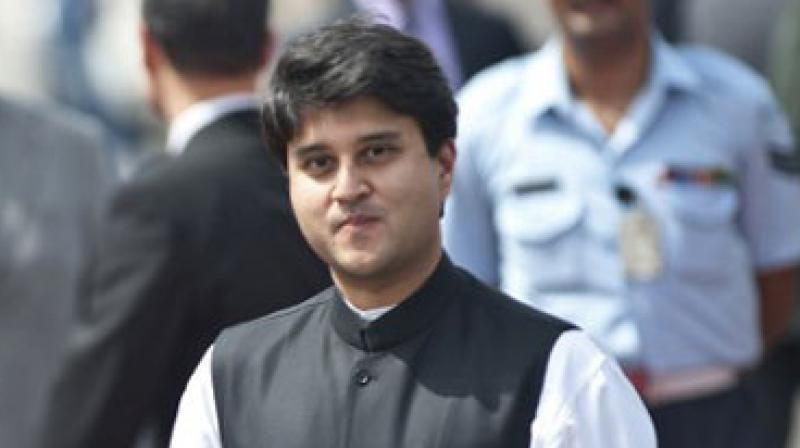 Amid infighting in the Madhya Pradesh Congress and jostling for the state unit chief's post, senior leader Jyotiraditya Scindia is scheduled to meet party president Sonia Gandhi on Tuesday in New Delhi. (Photo: File)