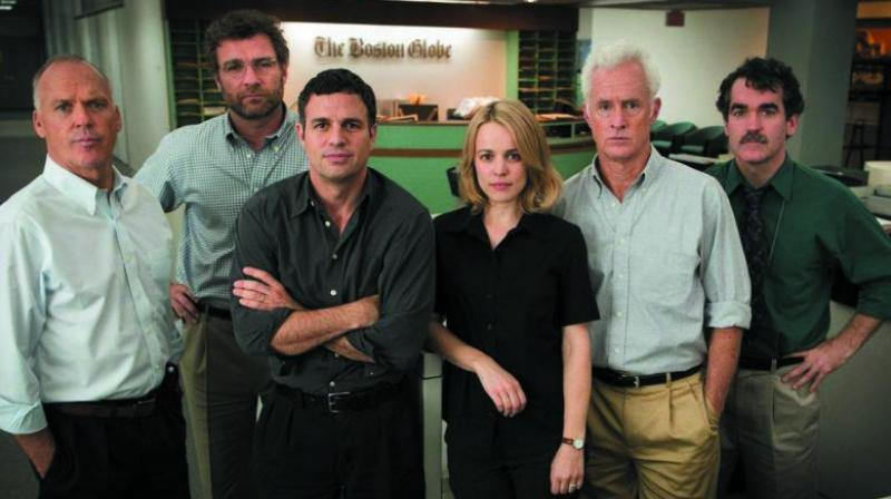A still from the movie Spotlight