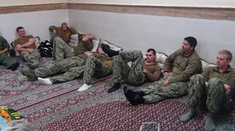 A photograph showing the captured American soldiers (Photo: AFP)