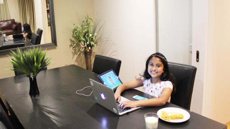 At just nine, Anvitha is the youngest developer who will be attending this year's WWDC conference. (Photo: Fortune.com)