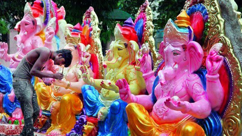 Warangal: Massive campaign to use clay Ganesh idols