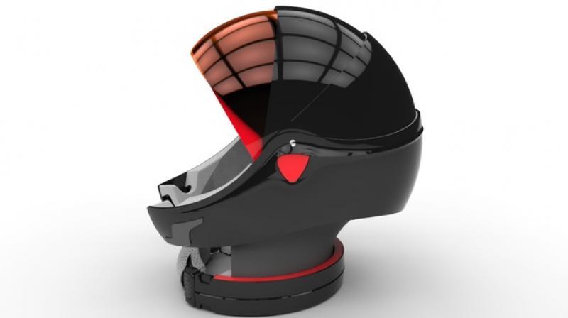 Alpha Helmet A Folding Headgear Inspired By Nature