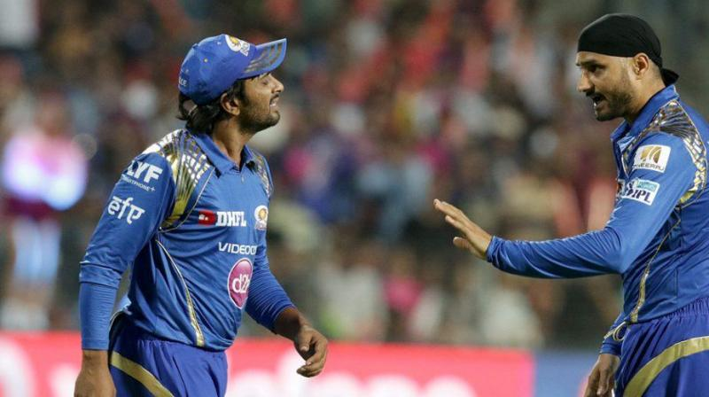 Rayudu, who seemed to be disappointed with Harbhajan's behaviour, walked towards his senior player to oppose him. (Photo: BCCI)